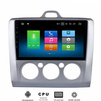 9 Android 10.0 Car Multimedia Player for Ford Focus 2 MK2 MK3 2004-2011 Autoradio Stereo 8-Core 4GB +32GB GPS Navigation MP3 image