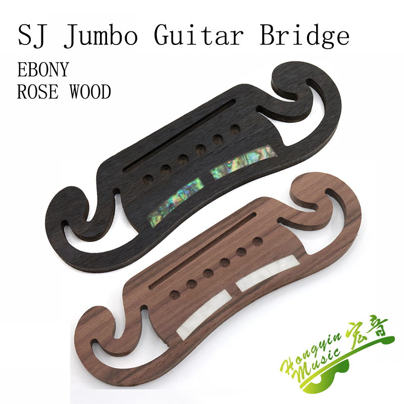 42-43 Inch SJ  Jumbo Guitar Bridge Drilling Professional Replacement Parts Rosewood