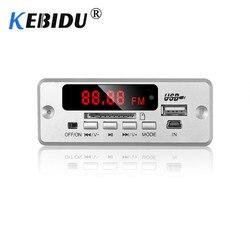 Kebidu 5 12 v bluetooth5.0 mp3 decodificador módulo de placa sem fio mp3 player led acessórios do carro suporte tf slot para cartão usb fm + remoto