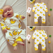 2019 Winter Autumn Spring New Brand Toddler Newborn Baby Girls Boy Rompers Cartoon Jumpsuit Outfits Clothes