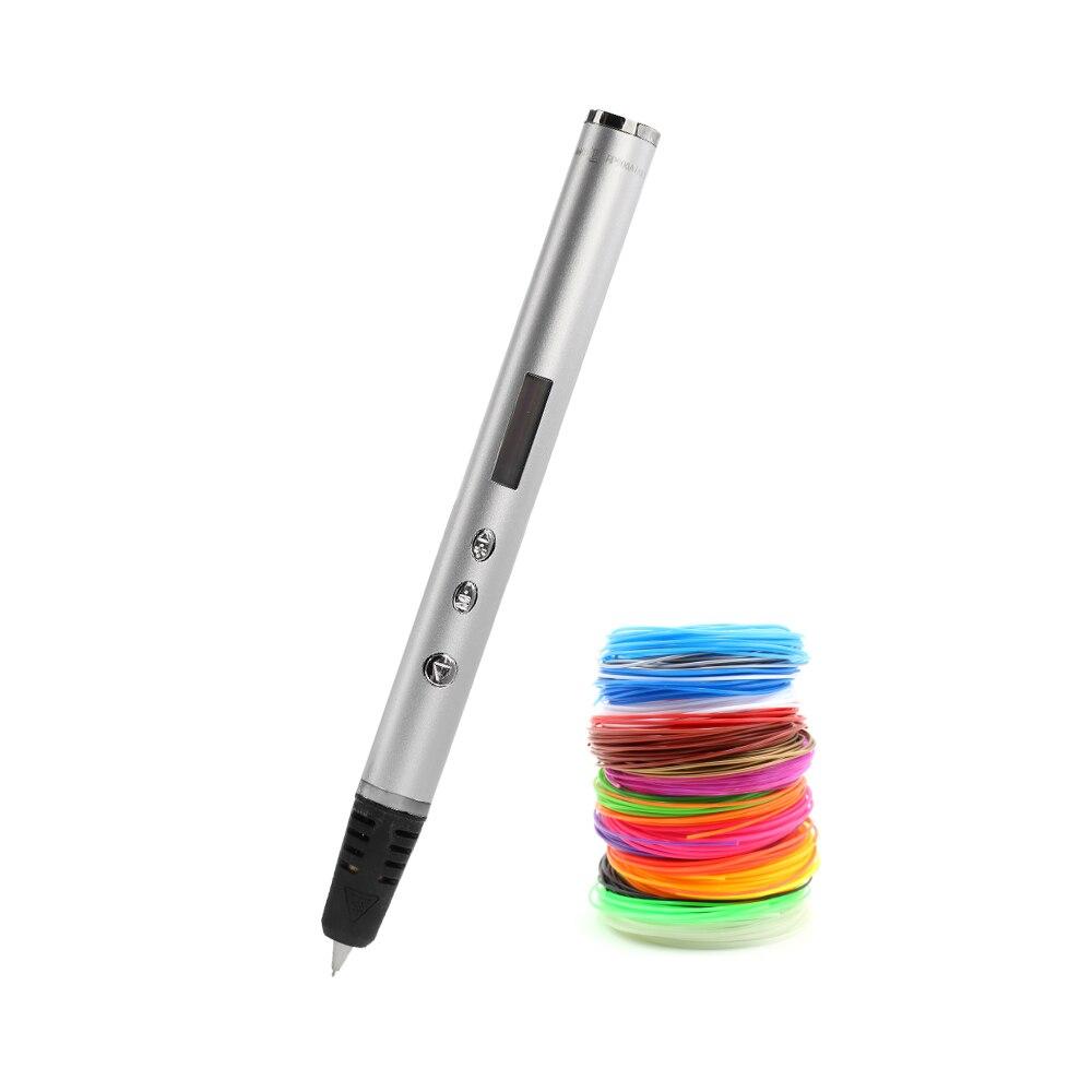 Lihuachen rp900a 3d caneta para crianças aniversário melhor presente 3d desenho caneta impressão das crianças brinquedos educativos