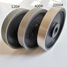 1 шт. 6 дюймов 150x25 мм Алмазное шлифовальное колесо с алмазным покрытием мягкое полимерное шлифовальное колесо для драгоценного камня нефрит...