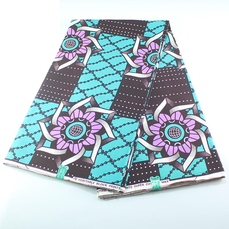 Hot Sale Design 100% Cotton  High Quality  African Dutch Wax For Women Dress New 2019