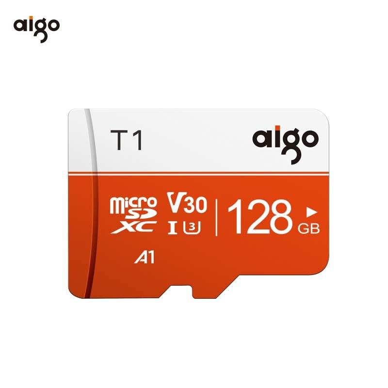 Aigo 128G High Speed UHS-3 A1 Micro Sd Card Waterproof Tf Card 97MB/S Heat Resistant Microsd Card Memory Card Free Shipping