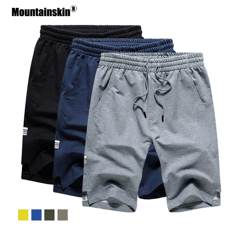 Mountainskin 2020 New Summer Mens Shorts Casual Men's Beach Shorts Breathable Male Sport Gym Fitness Homme EU Size SA886