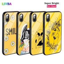 Black Cover keep smile yellow for iPhone X XR XS Max for iPhone 8 7 6 6S Plus 5S 5 SE Super Bright Glossy Phone Case black cover piano guitar music for iphone x xr xs max for iphone 8 7 6 6s plus 5s 5 se super bright glossy phone case