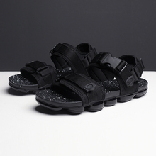 2019 גברים קיץ מקרית פנאי נעליים קל פתוח הבוהן חיצוני ריצה סנדלי מלא דקל אוויר נעלי הליכה פתוח נעליים