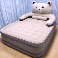 Nueva cama inflable grande hogar cama doble de aire colchón de aire gruesa cama de aire portátil al aire libre cama de aire perezoso camping al aire libre estera