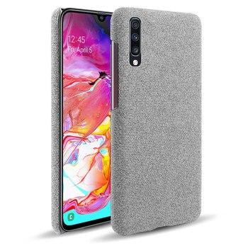 Перейти на Алиэкспресс и купить Чехлы для Samsung Galaxy A10 A10S A20 A20E A20S A30 A40 A50 A51 A60 A71 A70 A70S A80 A90 5G Тонкий ретро тканевый жесткий чехол для телефона