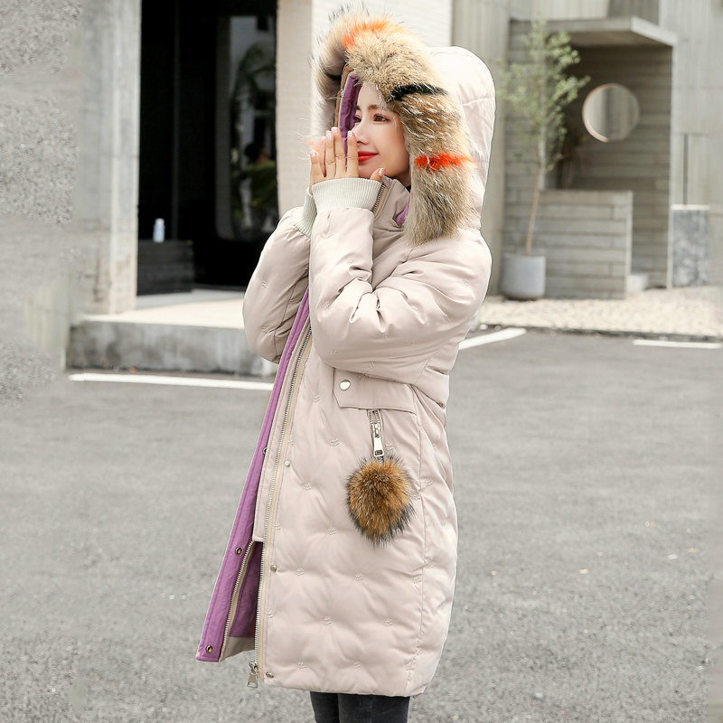 Women&39;s Jacket Large Size 2019 Female Long Hooded Fur Collar Parka_A7_8