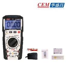 Cem DT-8908D multímetro digital de alta precisão medidor inteligente automático display digital multímetro