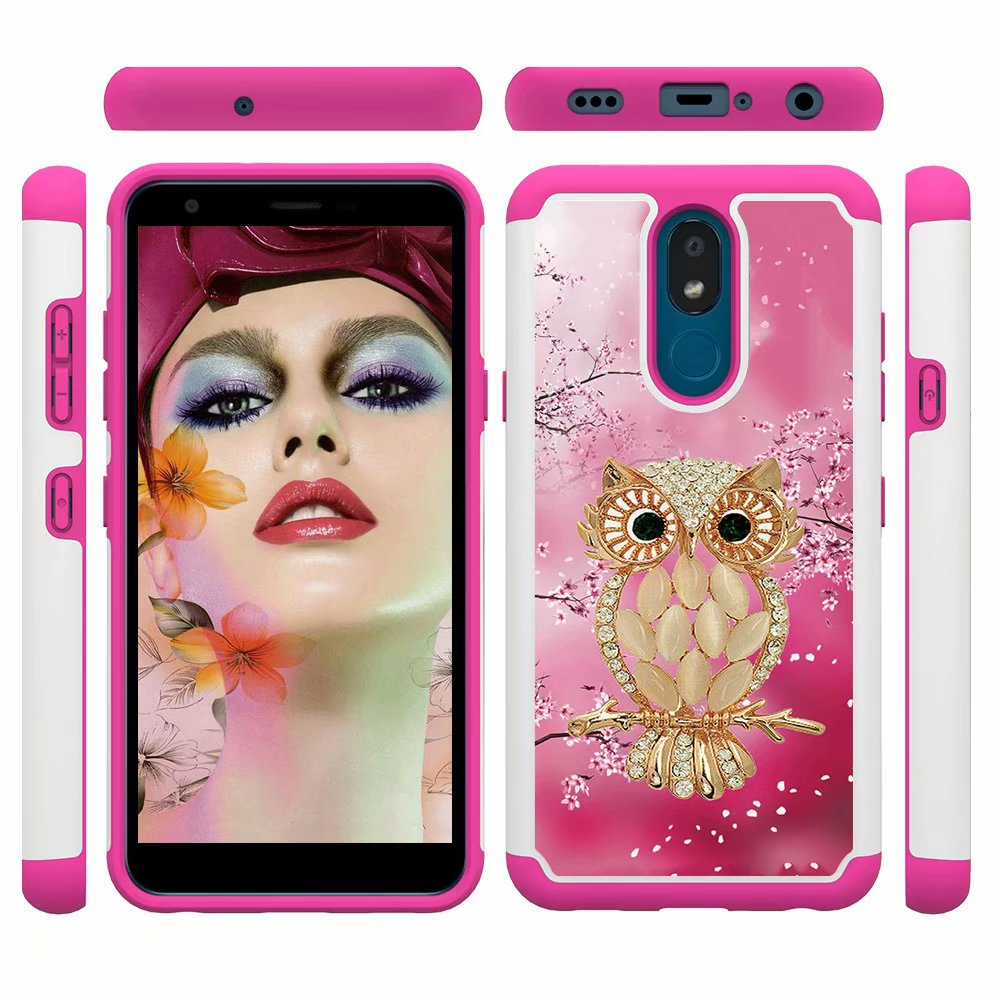 Luxury Anti-Drop Cover For LG K30 2019 Silicone And PC 2 In 1 Heavy Duty Anti Shock Armor Case For For LG K30 2019 Coque