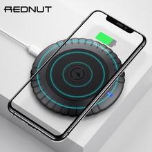 REDNUT 10W Almofada de Carregamento Sem Fio Carregador Sem Fio para Samsung S9 S10 Rápido para iPhone XS Max XR X 8 além de Carregador Sem Fio Qi