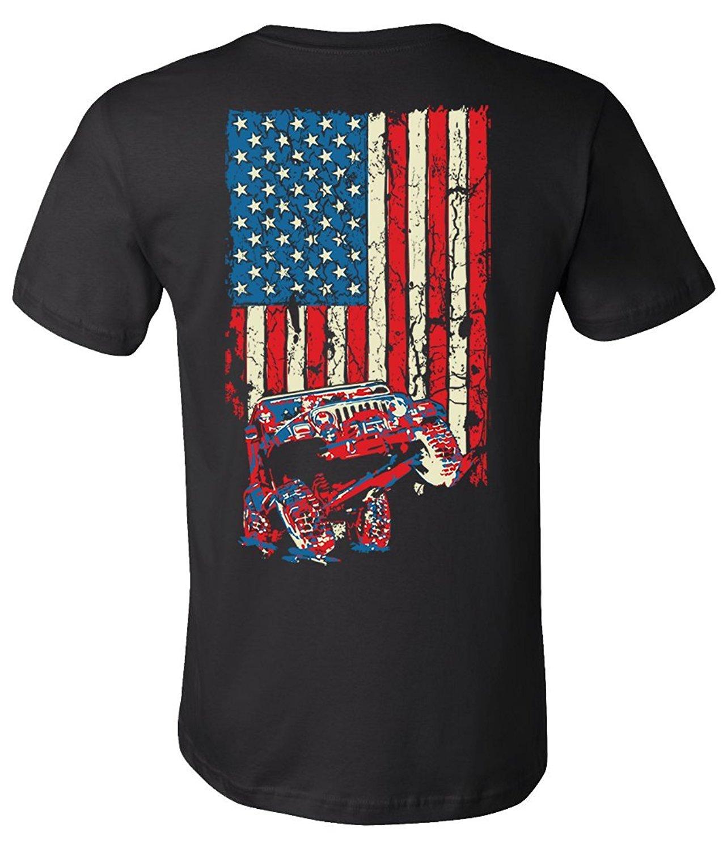 2019 New Summer Slim Tee Shirt American Flag TJ Shirt (Design On Back) Fashion T-shirt