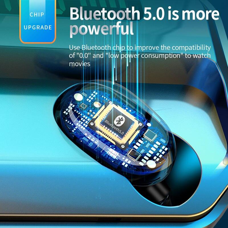 Купить bluetooth 50 беспроводная музыкальная гарнитура с сенсорным