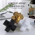 Скандинавский Простой Модный креативный светильник, роскошные квадратные строительные блоки, керамическая керамика, украшение для дома