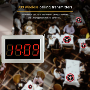 Image 3 - Retekess Call Customer Service Wireless Call Receiver Display Host +10pcs Call Buttons Restaurant Equipment Office Cafe
