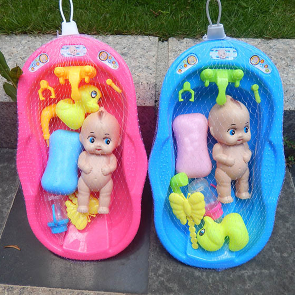 Baby Doll Bath Time Set, Girls Bath Tub Toys Games Kids Christmas Birthday Gift