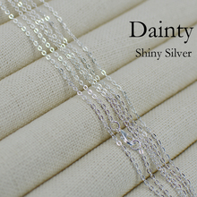 100 pcs   18 Inch Silver Plated Necklace Chain, Silver Plated Chain Necklace, DAINTY necklace chain, Dainty Chain Necklace