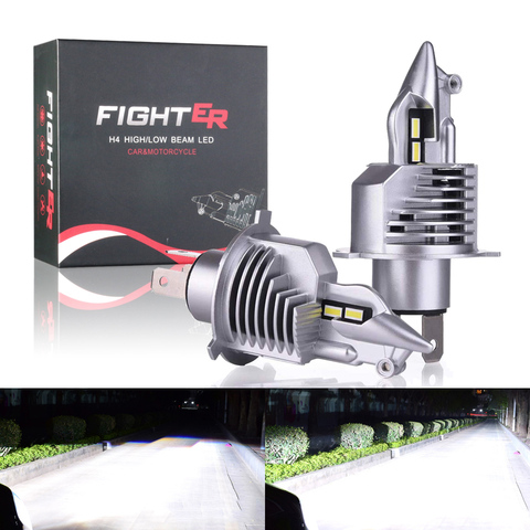 gzkafolee apto para 99 veiculos mini led h4 12000lm 12v 24 h4 lampada do farol