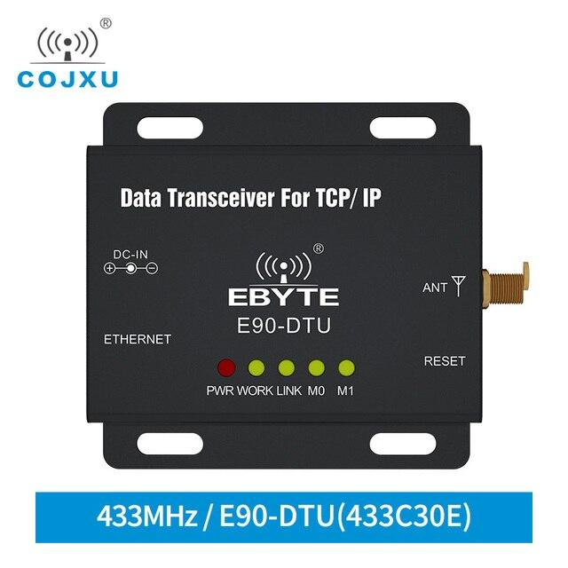 Ethernet Modbus 433MHz 1W IoT TCXO E90 DTU 433C30E A Lungo Raggio PLC Dati di Trasmissione Senza Fili Ricetrasmettitore modem modem ethernet
