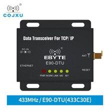 Ethernet Modbus 433MHz 1W IoT TCXO E90 DTU 433C30E longue portée PLC Transmission de données sans fil émetteur récepteur modem ethernet modem