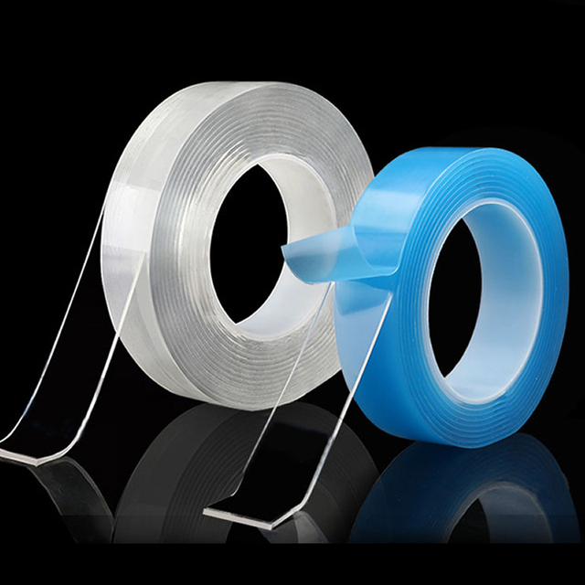PET Pipe Sealing Repair Double Sided Adhensive Tape Reusable Nano Magic Gule Traceless Tapes Washable Removable Sticker 1 Roll