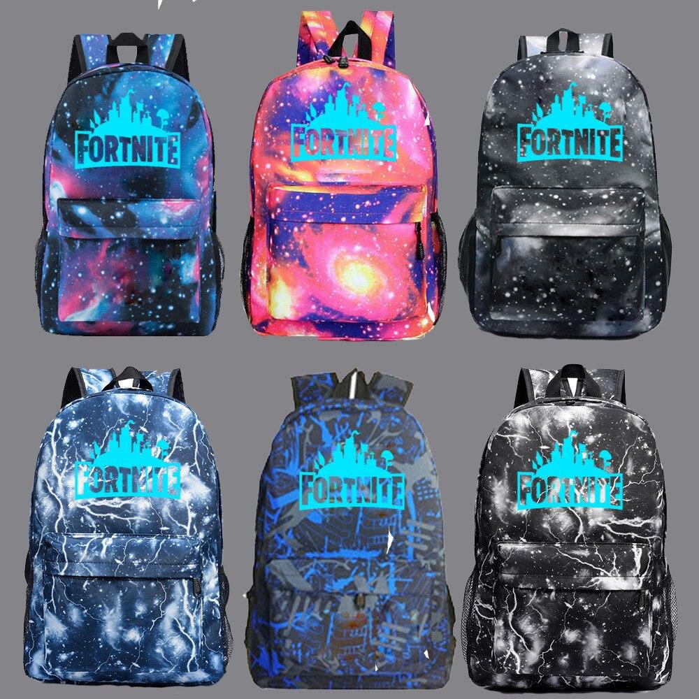 Customizable Fortnite Game Fortnite Night Light Star School Bag Men And Women Backpack Teenager Campus Backpack