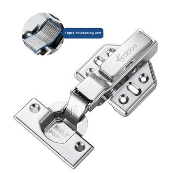 1pc zawias meblowy drzwi ze stali nierdzewnej zawiasy hydrauliczne bufor amortyzatora łagodne zamykanie szafki kuchenne sprzęt meblowy tanie i dobre opinie CN (pochodzenie) Do obróbki drewna NONE JL301 JL302 STAINLESS STEEL 40mm 18mm 35mm 8KG 2 piece Gold 95-110 degree Use for cabinet kitchen cupboard door etc