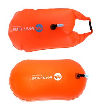 2 szt Sporty wodne bezpieczeństwo pływanie urządzenie zdenerwowane napompowane boja flotacja na basen otwarte morze wodne pomarańczowy tanie i dobre opinie prettyia WOMEN Swimming Rings