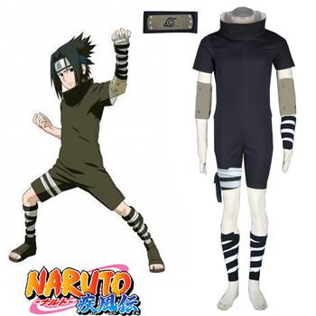 Hot Sale Anime Cosplay Narutos Ninja Uchiha Sasuke Cosplay Costume Halloween costumes Party luxury Costume tanie i dobre opinie TOLINA Kombinezony i pajacyki Unisex Dla dorosłych Zestawy 19039 Poliester Kostiumy Fancy Dress