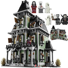 Lepinblock Lepining City Monsters Fighter The Haunted House Firehouse Headquarters Building Blocks Movie Toys Kids Gifts 10228(China)