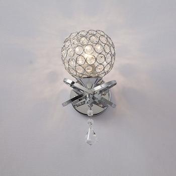 Factory direct sale modern simple crystal wall lamp living room bedroom bedside lamp corridor lamp