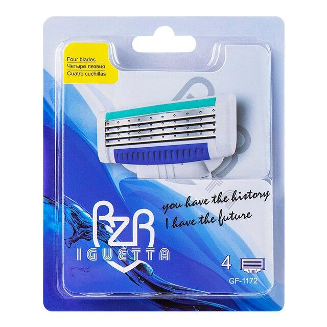 Сменные картриджи для бритья RZR Iguetta GF4-1172, 4 шт. 1