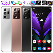 2021 Global Version N28U 6.6Inch HD Phone 4800mAh 8g+256g Dual Card Dual Standby Fingerprint Face Unlock Cellphone Fastshipping