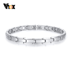 Vnox Stainless Steel Bracelets for Women Bio Energy Power Health Care Female Temperament Jewlery Pulseira