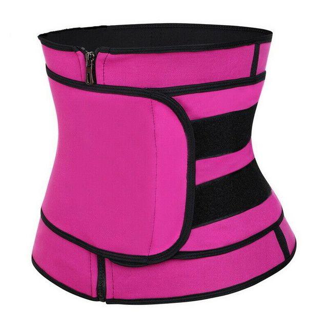 Waist Trainer Thermo Sweat Belt Waist Trainer Girdle Corset Women Tummy Body Shaper Shapewear Fat Burning Fitness Modeling Strap 1