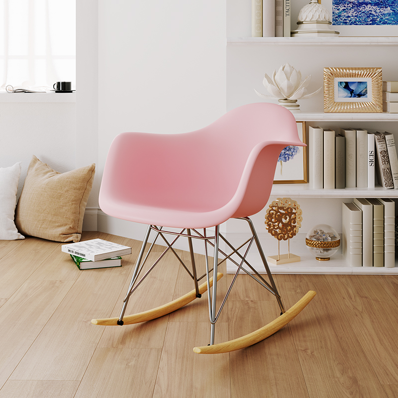 Nordic INS Fashion Rocking Chair Restaurant Dining Chair Restaurant Office Yaoyao Chair Family Bedroom Learning Yao Yao Chair
