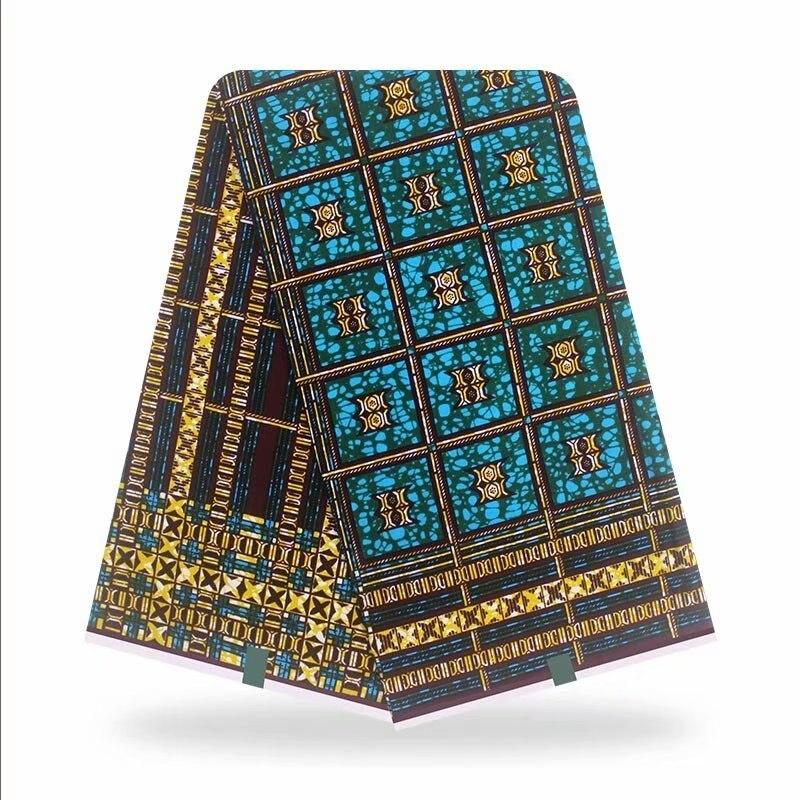 2020 Hot Sale African Print Wax Fabric 100% cotton High Quality Ankara Real Wax Printed Fabric Diy Dress 6 yards