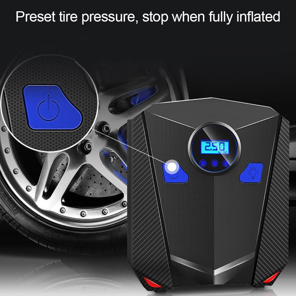 12V Tela Digital Tire Inflator Bomba de