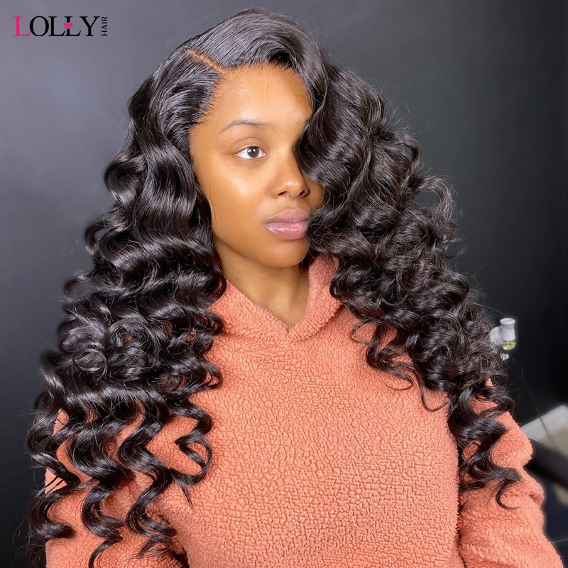 Loose Deep Wave Lace Front Wig Remy 360 Lace Frontal Wig 250% Density 13X4/13X6 Malaysian Water Wave Lace Front Human Hair Wigs