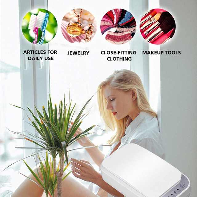 UV Disinfection Box Sanitizer Charger Prevent Flu For iPhone/Samsung Mobile Phone Headphones Mask Sterilizer Kill 99.9% Viruses 3