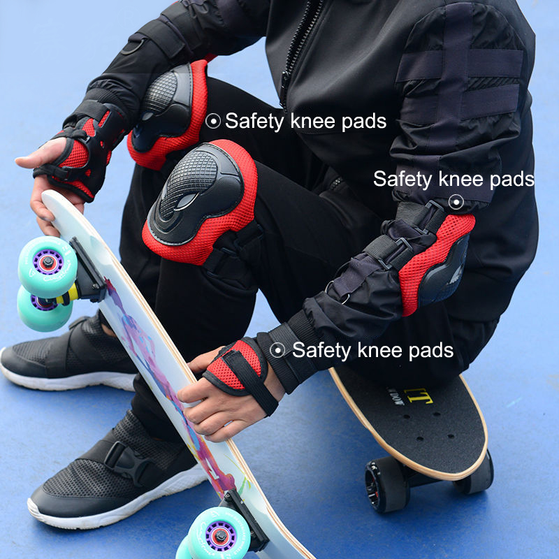 7PCS Cycling Skating Protective Gear Adult Children Skating Cycling Bicycle Skateboard Helmet Elbow Kneepad Equipment Set
