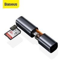 Baseus-lector de tarjetas 2 en 1, USB 3,0 tipo C a TF, microSD, para MacBook Pro, Huawei P30 Pro, OTG, inteligente