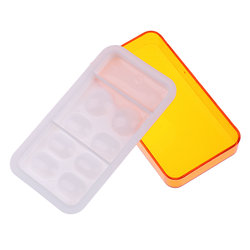 Dental Resin Mixing Watering Moisturizing Plate With Cover 8 Slot Palette Dental Lab Equipment High Quality 1pc