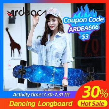 цена на ARDEA Skateboard Dancing Longboard Adults Freestyle Street Road Boy and Girl Skate Long board 4 Wheels