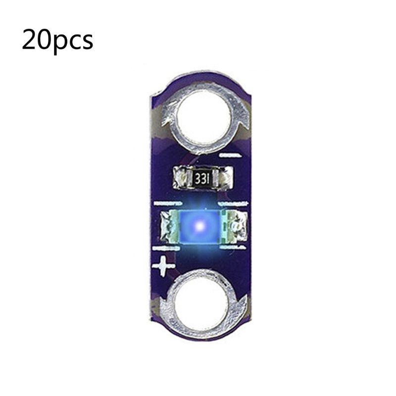 20pcs/lot LilyPad Button Board Module Led Light For 3V-5V SMD DIY Kits