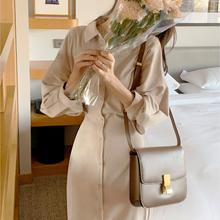 Fashion Long Sleeve Shirt Dress Women's Summer Vintage Button Midi Dresses Za Female Casual Loose Party Robe Vestido Maxi