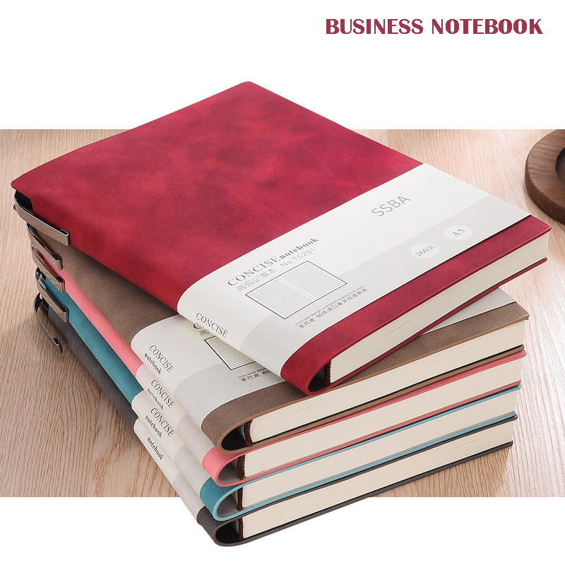 Bullet Journal Notebook Stationery Leather Business Meeting Record A5 Paper Line Page Notepad Planners School Agenda Office