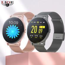 LIGE 2021 moda inteligentny zegarek panie tętno ciśnienie krwi wielofunkcyjny zegarek sportowy mężczyźni kobieta wodoodporny Smartwatch kobiet tanie tanio CN (pochodzenie) Android Na nadgarstek Zgodna ze wszystkimi 128 MB Krokomierz Rejestrator aktywności fizycznej Rejestrator snu
